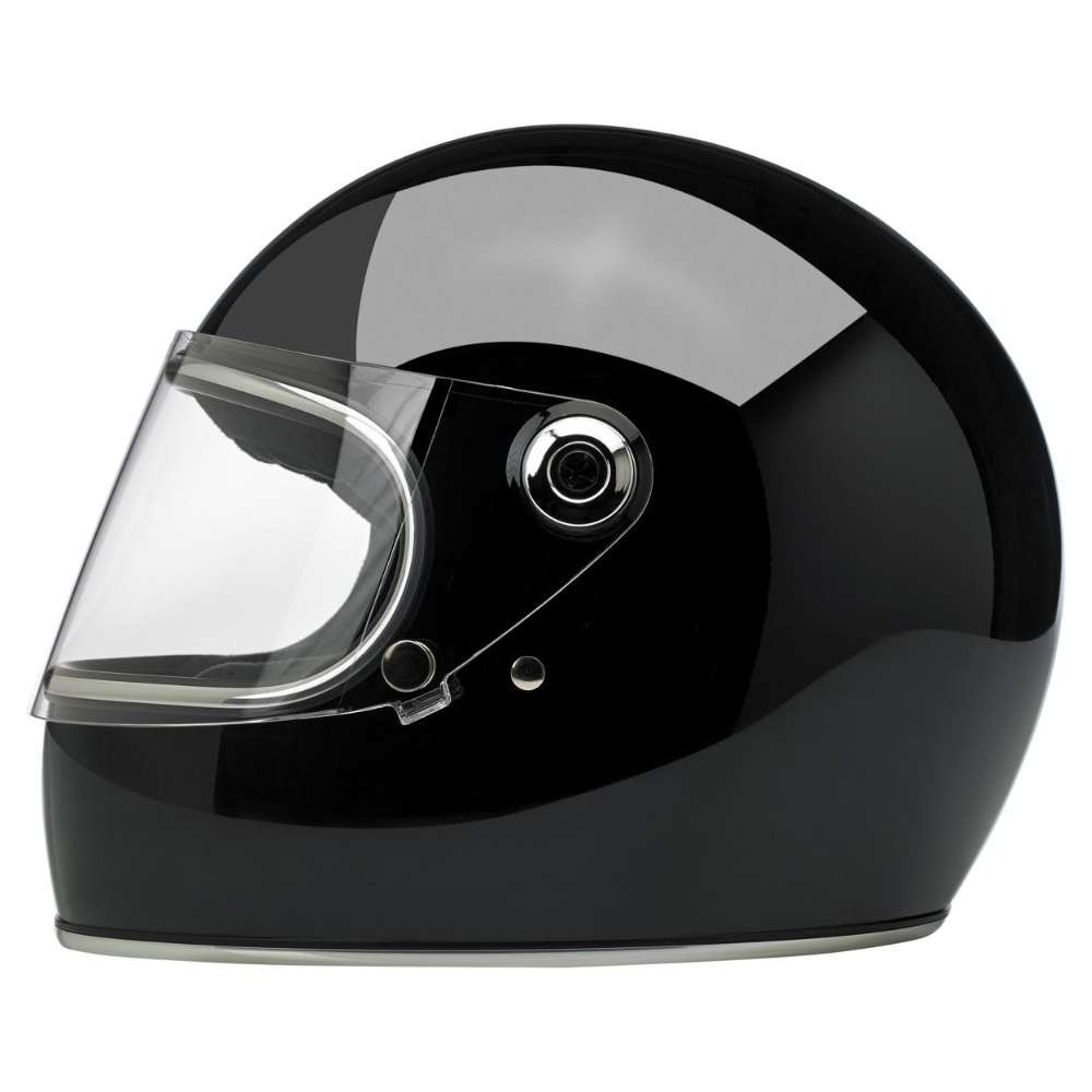 Biltwell Gringo Helmet Gloss Black with Visor
