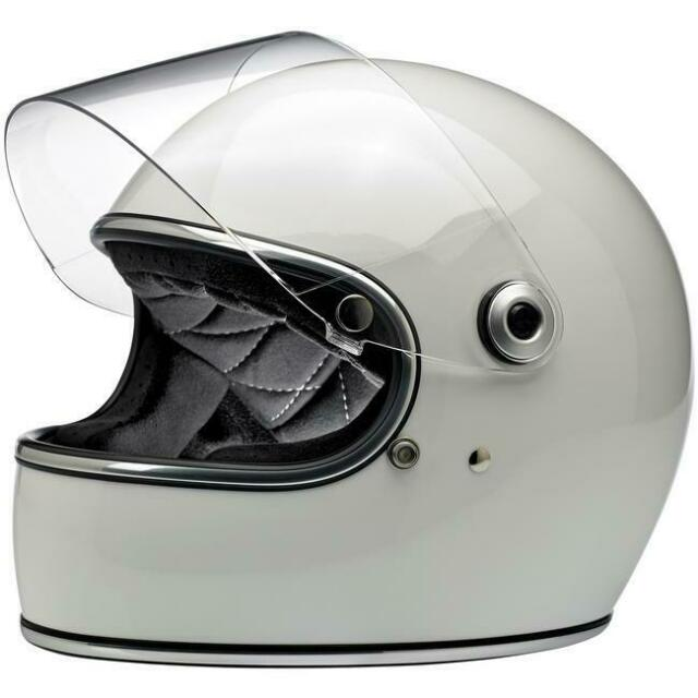 Biltwell Gringo Helmet Gloss White with Visor