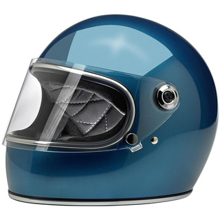 Biltwell Gringo Helmet Pacific Blue with Visor