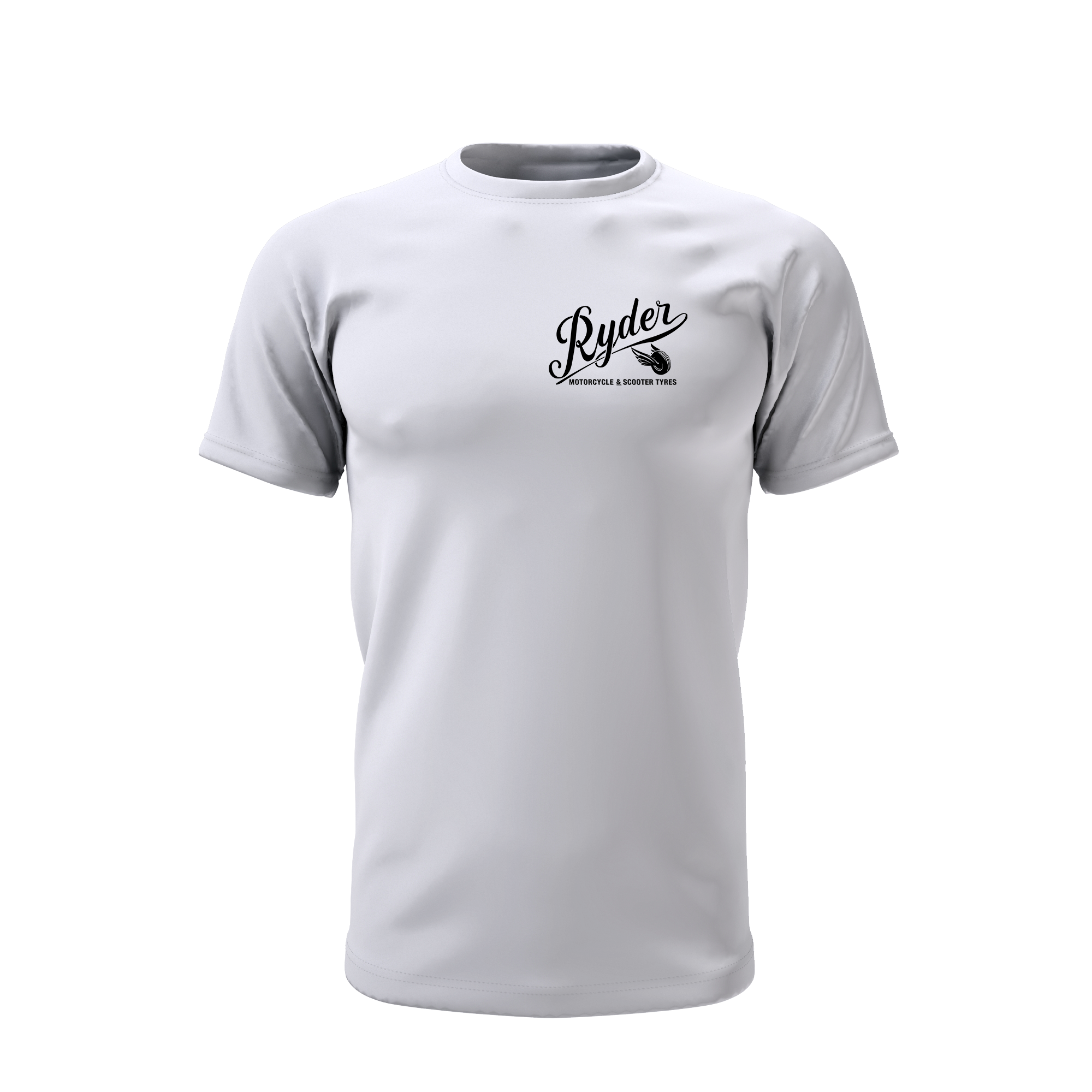Ryder White Male T-Shirt